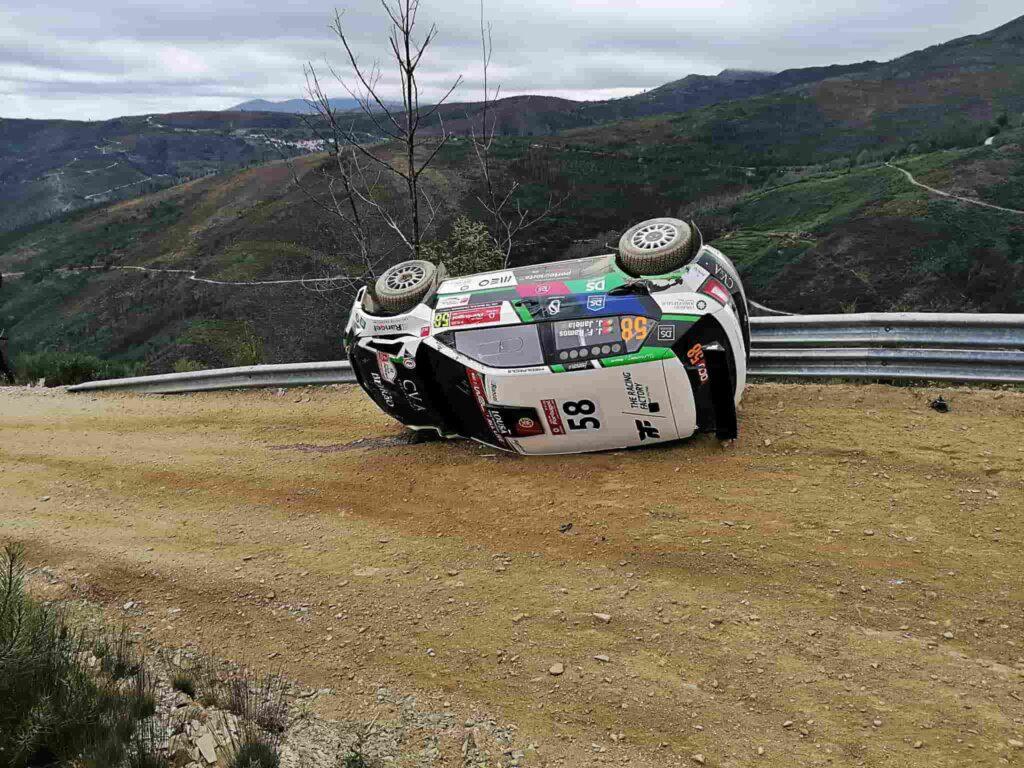 Jornalista da TVI sofre acidente aparatoso no Rali de Portugal