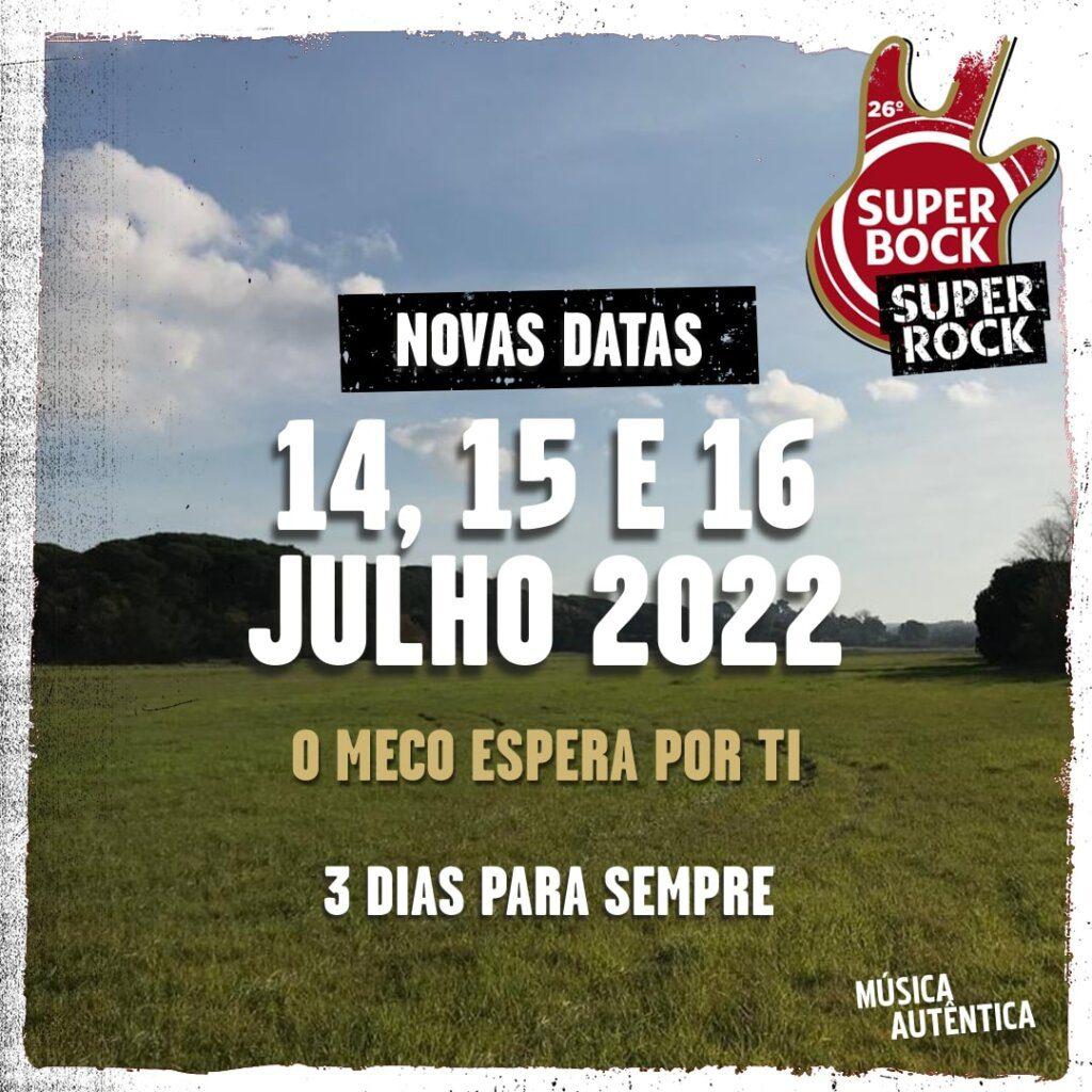 Super Bock Super Rock adiado para 2022