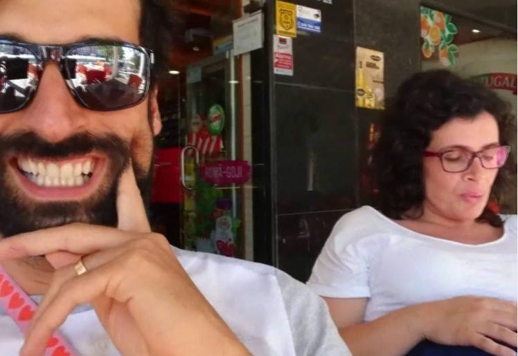 António Raminhos publica imagem da mulher com contracções
