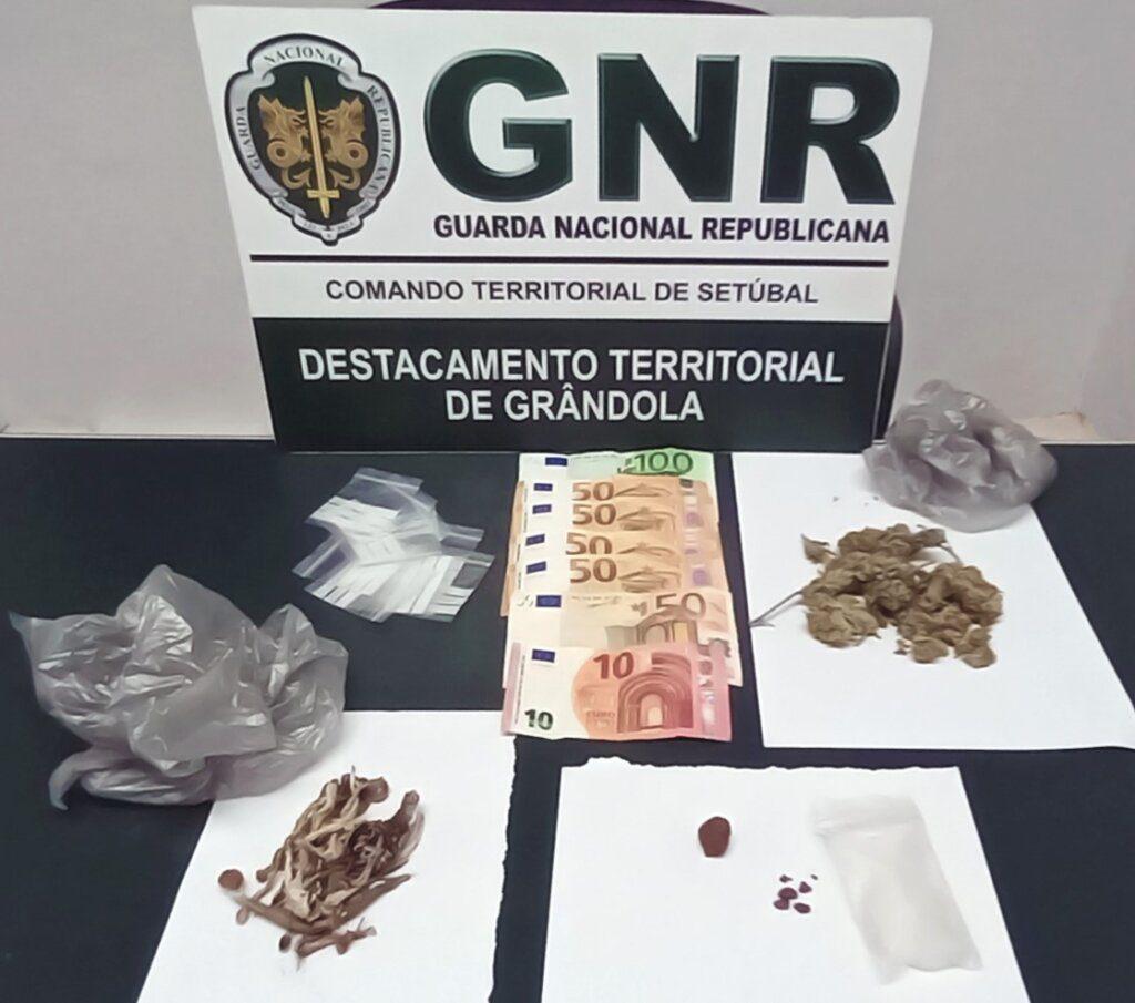 Grândola: GNR deteve homem por tráfico de droga