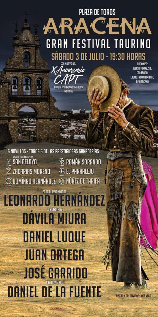 Aracena: Conhecido cartel do festival taurino