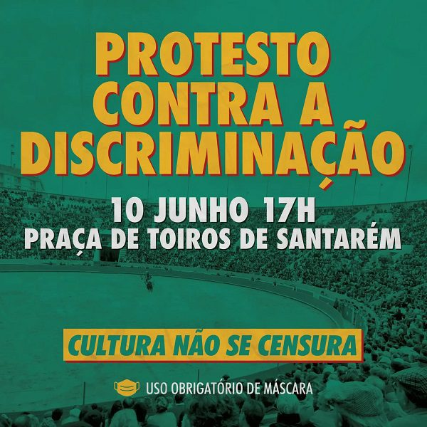 Manifestação em Santarém contra o adiamento das corridas de touros