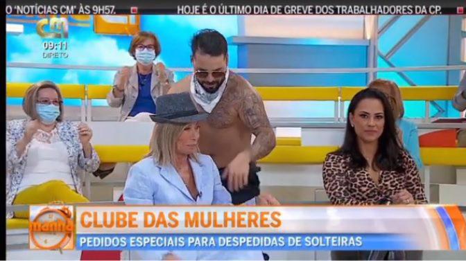 CMTV: Zulmira Ferreira e Kelly Medeiros incomodadas com strip em directo