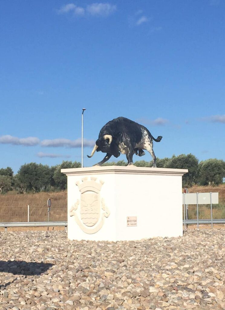 Golegã inaugura rotunda com estátua do touro 'Azeitono'