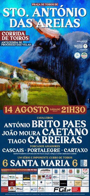 Santo António das Areias recebe corrida de touros a 14 de Agosto
