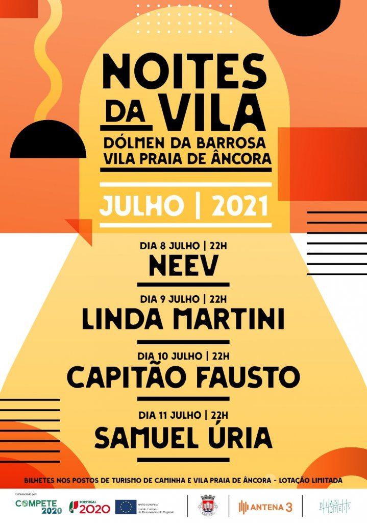 Vila Praia de Âncora: NEEV, Linda Martini, Capitão Fausto e Samuel Úria nas 'Noites da Vila'