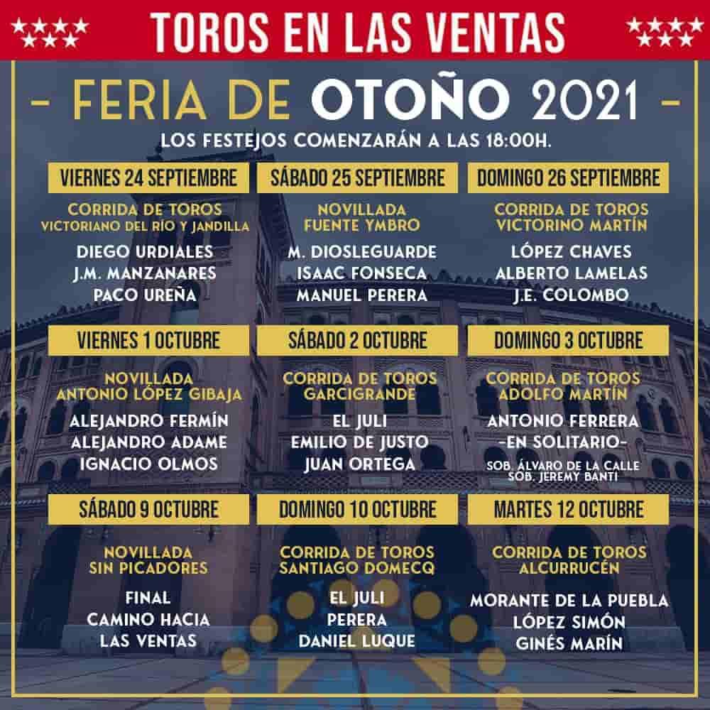 Las Ventas: Cartéis da Feira de Outono