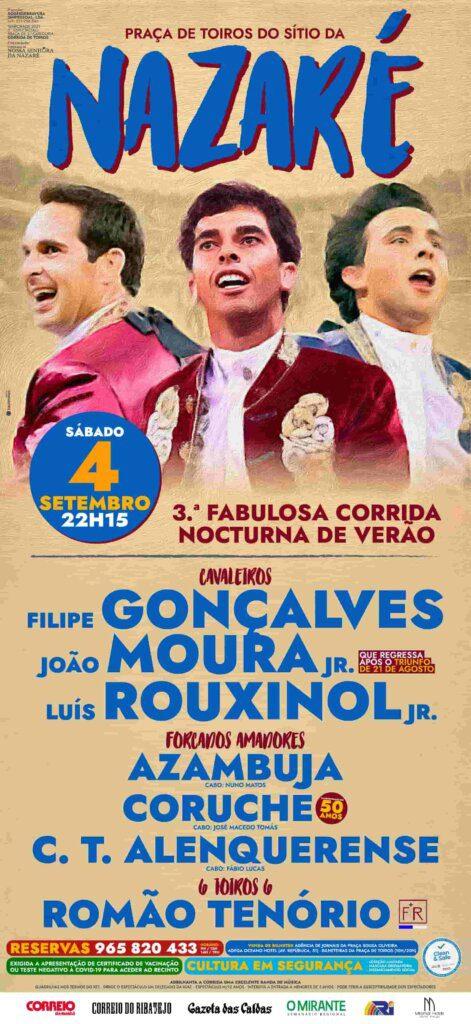 Gonçalves, Moura Jr. e Rouxinol Jr. na Nazaré a 4 de Setembro