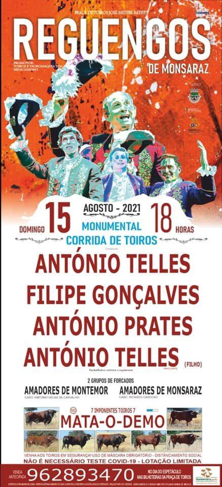 Cartel rematado para o 15 de Agosto em Reguengos de Monsaraz