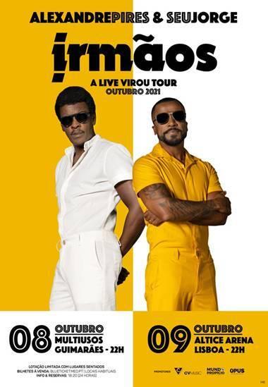 Alexandre Pires & Seu Jorge anunciam dois concertos em Portugal