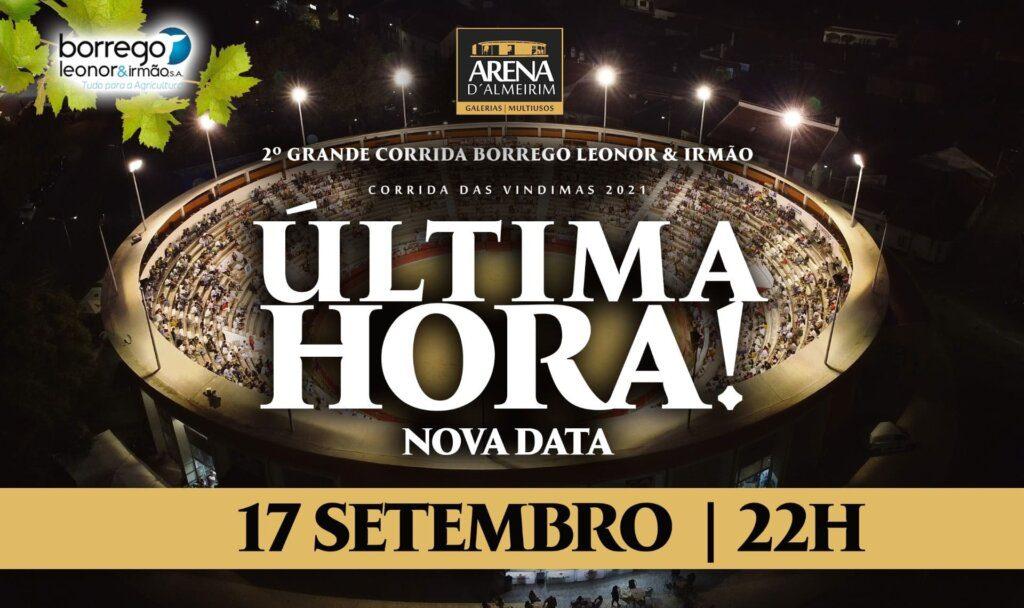 Arena de Almeirim recebe corrida a 17 de Setembro
