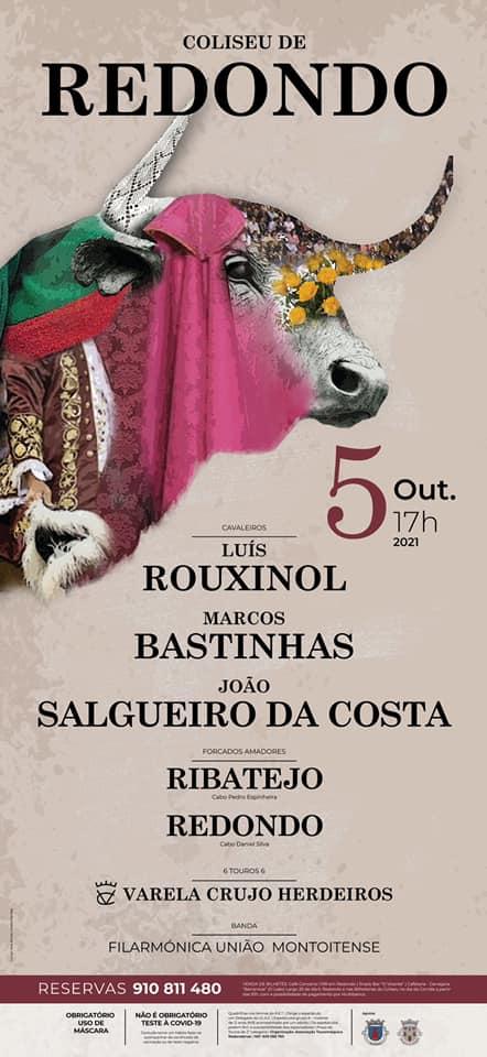 Rouxinol, Bastinhas e Salgueiro da Costa no Coliseu de Redondo