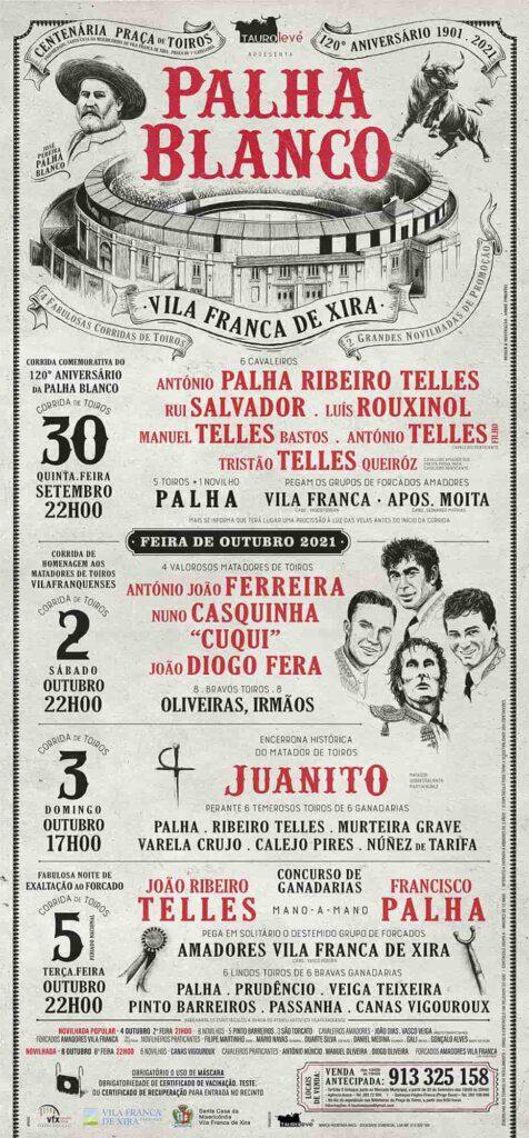 Tauroleve apresenta 7 espectáculos para a Feira de Outubro e 120 anos da Palha Blanco