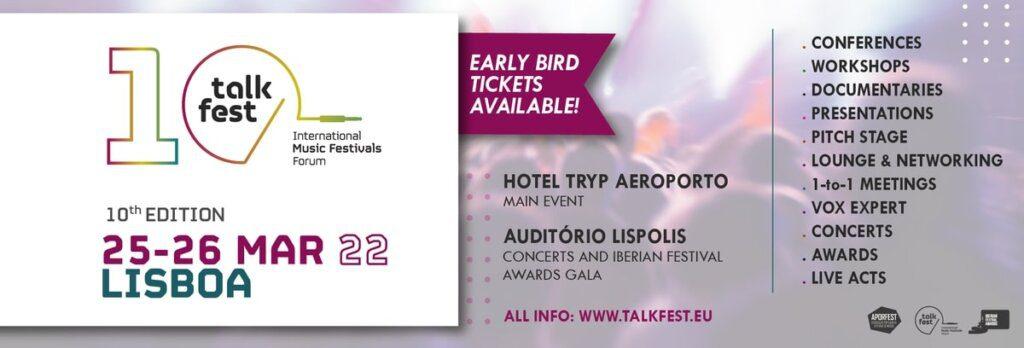 Talkfest: 10ª edição ocorrerá a 25 e 26 março