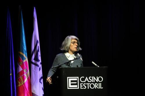 Ministra da Cultura Graça Fonseca no uso da palavra